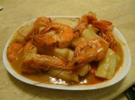 寧波年糕鮮蝦煲