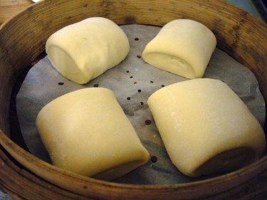 蒸前發酵的饅頭
