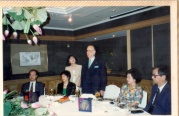 黃大洲市長晚宴,左:臺大校長陳維昭,右:李遠哲院長。