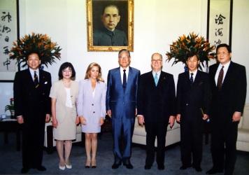 李登輝總統於總統府接見
