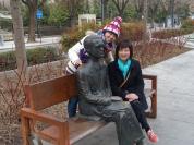2 度 C 冬日憲法大道上的羅卡雕像
