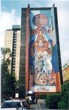 街道上里維拉的壁畫