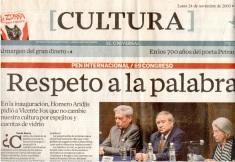 「尊敬文字」:《環球報》(El Universal) 報導 (左一尤薩,右一 葛蒂瑪)