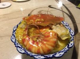 明蝦螃蟹海鮮湯飯