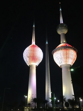 科威特塔:科威特市象徵(僅約 1 秒的紅光)