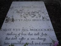 羅馬新教徒墓園:雪萊墓碑