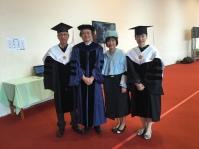與文學院長陳弱水、中文系主任李隆獻和外文系主任曾麗玲