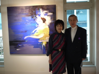 與梁君午合照:2011.11.11 「留白,未盡的燦爛」個展