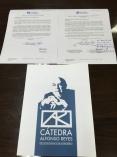 Alfonso Reyes 講座授權書與簽名留念