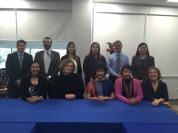 與國際處、文教學院、Alfonso Reyes講座教師合影(四位從不同校區--墨西哥市、Puebla, Sonora 校區飛來)