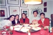 梁君午夫婦包水餃宴請和我同住巴西書院的西班牙朋友
