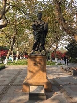 杭州西湖畔的馬可波羅雕像