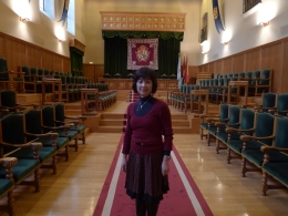2012 年參訪時攝於豐塞卡主教紀念廳(Palacio de Fonseca)