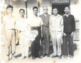 民國 55 年臺大美籍教授帶領學生到家裡農業調查