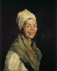 Robert Henri (1865-1929) 畫 Celestina