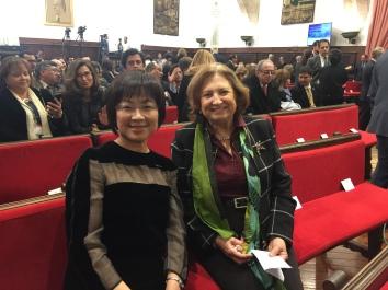 與 Zaragoza 大學教授,本國籍通訊院士 María Antonia