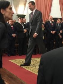 典禮結束,國王 Felipe VI 離開會場