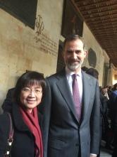 與西班牙國王 Felipe VI 合影, (U. Salamanca)