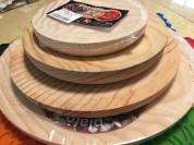 裝章魚的木製盤子大中小