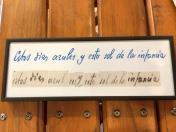 詩人Antonio Machado 逝後被發現的詩句手稿(這些藍色的日子和這個童年的太陽)