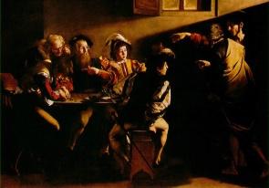 卡拉瓦喬 (1571-1610) 畫作 《聖馬太的天命》