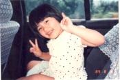 我用筆名「曉帆」的本尊,當時八歲。