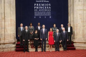 2018年西班牙公主獎五項得主合影