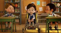 腦性麻痺的小男孩受到同學的鄙夷