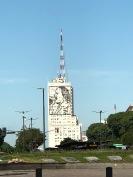 七月九日獨立大道衛福部大樓上艾薇塔雕像