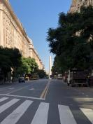 Roque. S. Peña 大道:就在右邊這大班木和高樓間被鴿屎淋身
