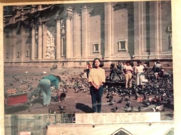 1980 年代對歐洲鴿子的印象:與群眾融為一體,感受人類的善意