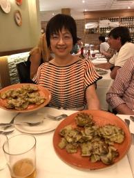 馬德里青椒餐廳(El Pimiento Verde)的「蓮花朝鮮薊」