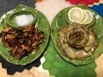 兩只朝鮮薊盤子,紐約千里