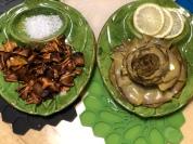 炸朝鮮薊與蓮花朝鮮薊雙拼