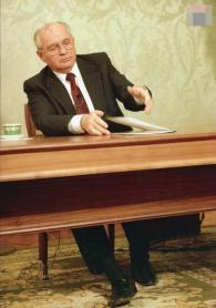 1991.12.25 戈巴契夫辭職演說。1992 年普立茲攝影獎