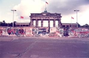 1989. 10. 01 柏林圍牆,眺望布蘭登堡 (東柏林)
