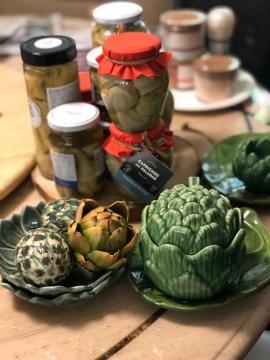 我的朝鮮薊器皿家族