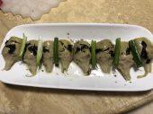橄欖菜朝鮮薊搭配蔥入口
