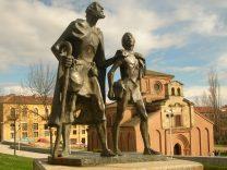 西班牙薩拉曼加的盲人與小癩子雕像(《小癩子》)