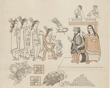 瑪琳切、科爾特斯在特諾奇蘭與蒙特蘇馬二世國王相會