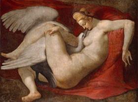 Leda 女神與天鵝 (臨摹米開朗基羅遺失畫作)