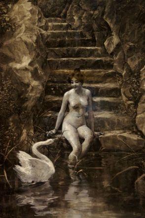Leda 女神與天鵝 (Ulpiano Checa)