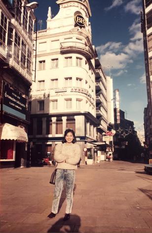 1988 米白灰混紡毛衣