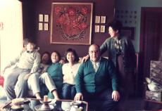 1990 勞治國教授全家福(妻子為台大外文系系友)