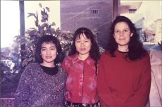 1990 灰色花粗線毛衣外套