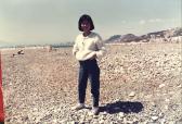 1990 粉白色毛衣