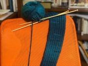 美麗的雙色混紡毛線(青與藍)