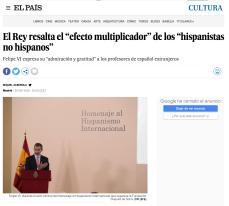 Felipe VI 致詞向非母語之西語學者致敬